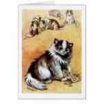Cat playing with Jewelry Louis Wain Card  Cat playing with Jewelry Louis Wain Card  $3.50  by CatInArt  . More Designs http://bit.ly/2g9LYfi #zazzle