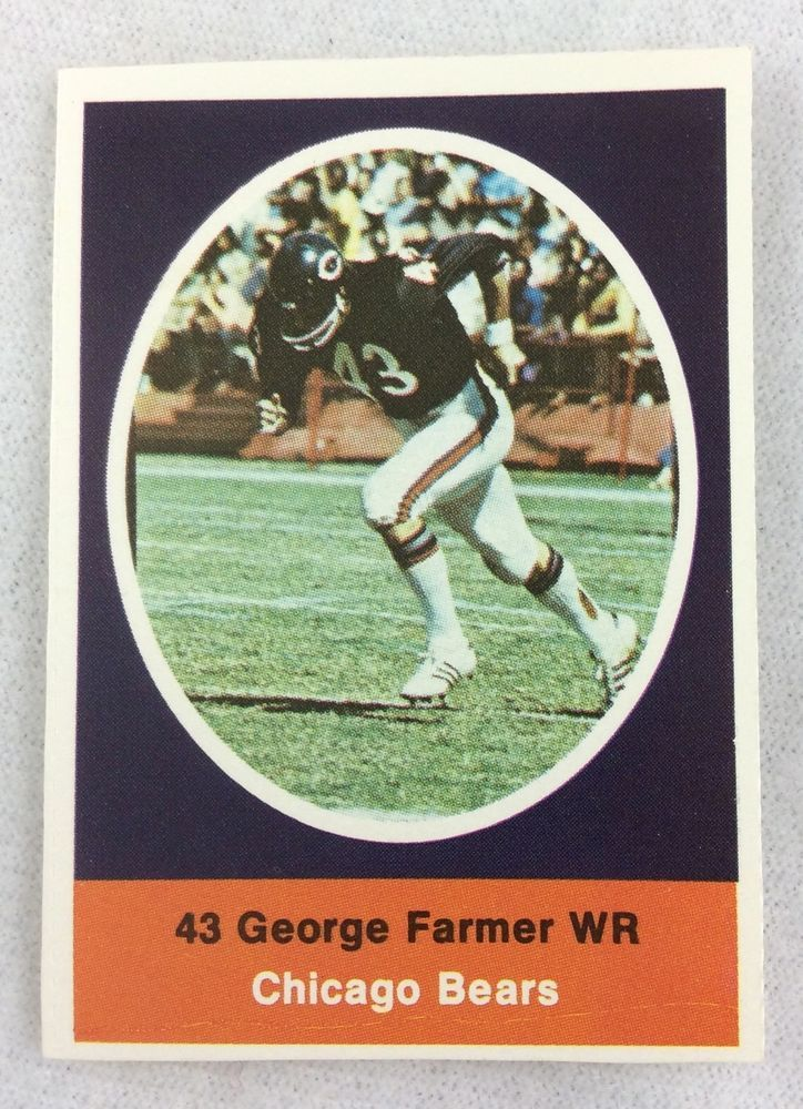 NFL 1972 Sunoco Football Stamp - Chicago Bears - George