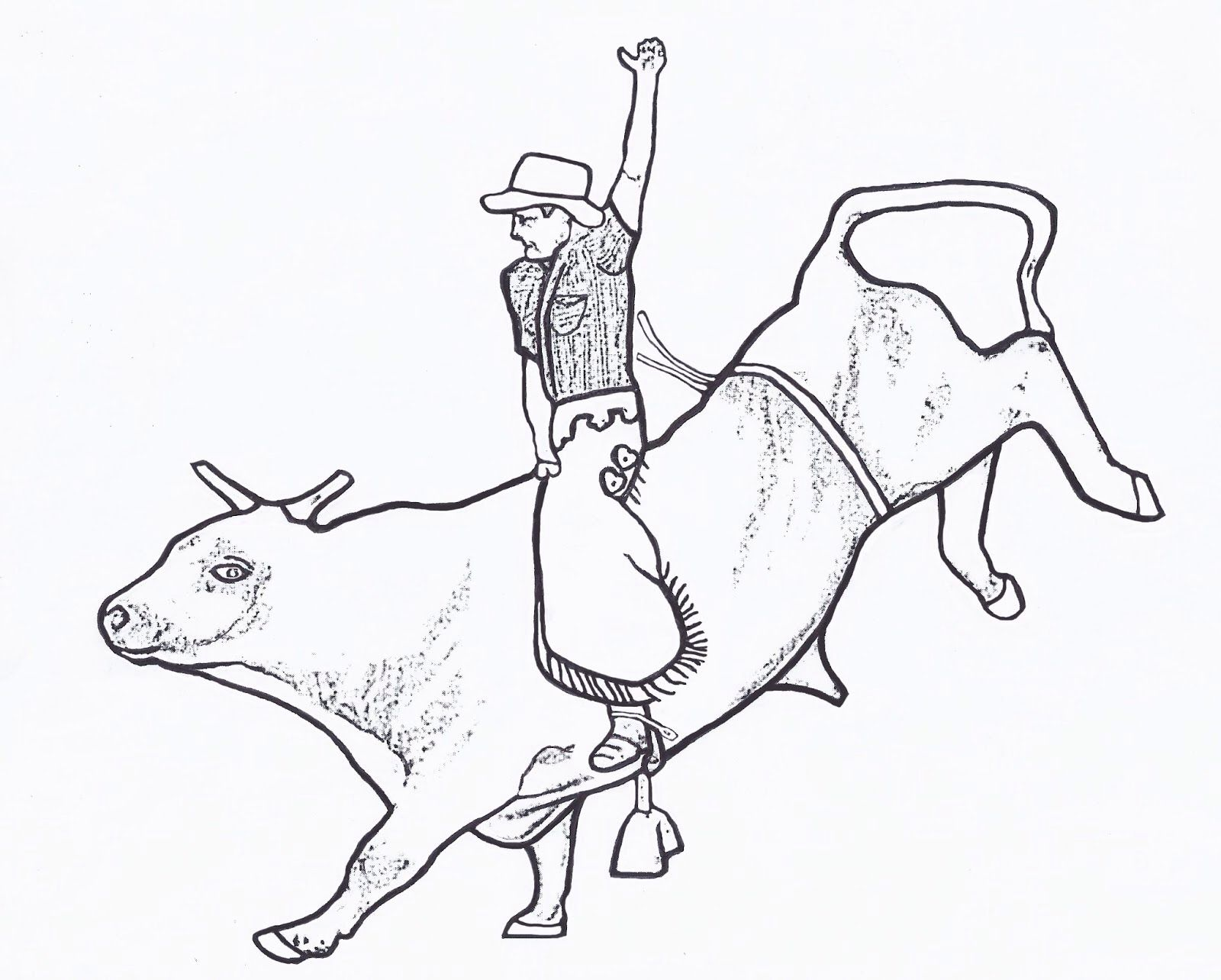 Image from http://mewarnai.us/images/642150-bull-rider