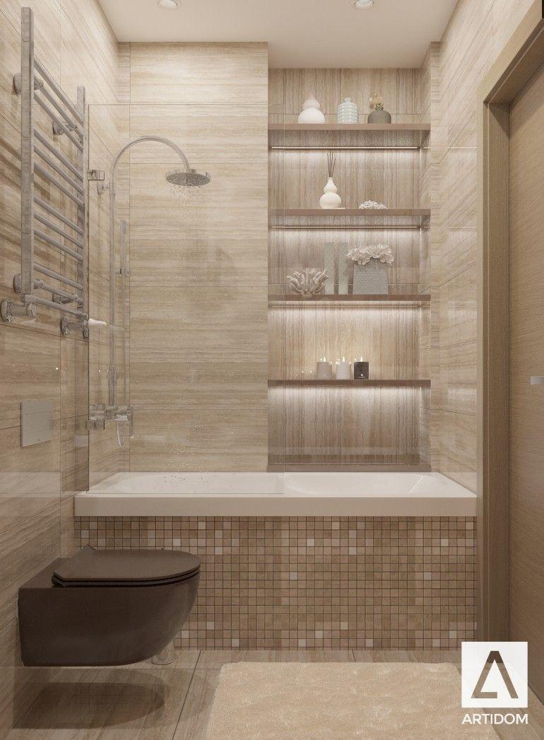 Bathroom Travertine Beige Brown Bathroom Glam Lux Bath Brown