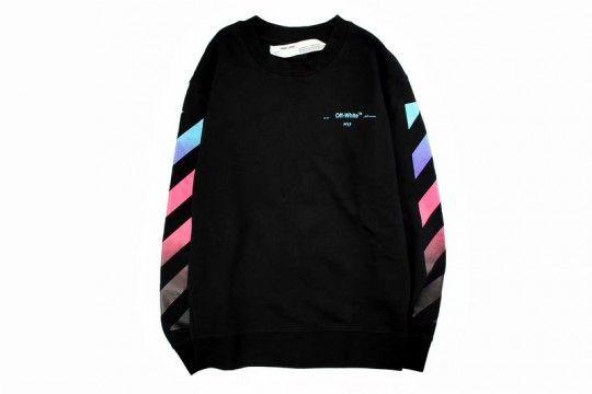 9e2292ac8674 Off-White Black Diagonal Gradient Crewneck Sweatshirt