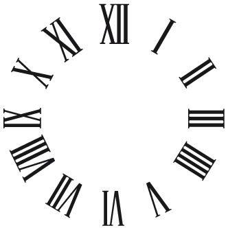 Números Del Reloj Hogar Pinterest Clock Clock Template Y Cricut