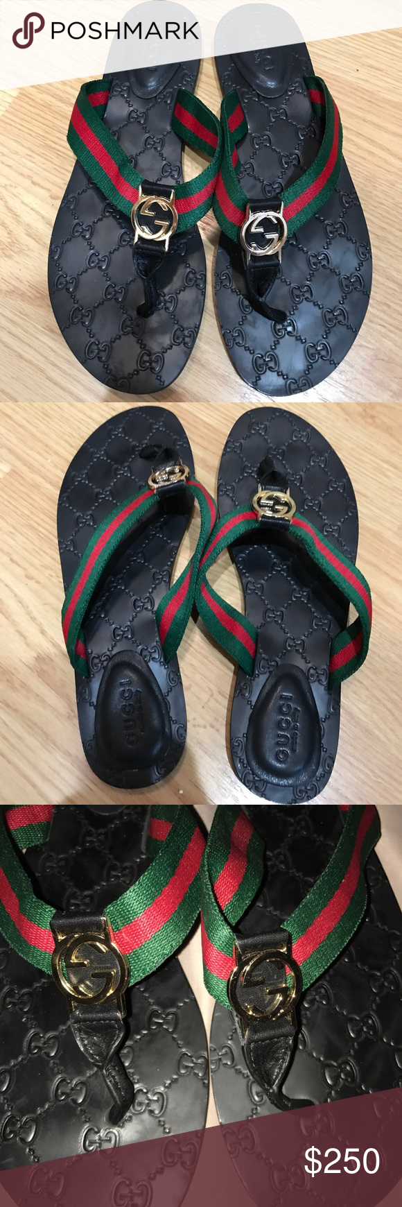 Web GG Gucci Slide Sandal All Authentic GG Gucci sandals come with dust bags no box. Size 11 Gucci Shoes Sandals