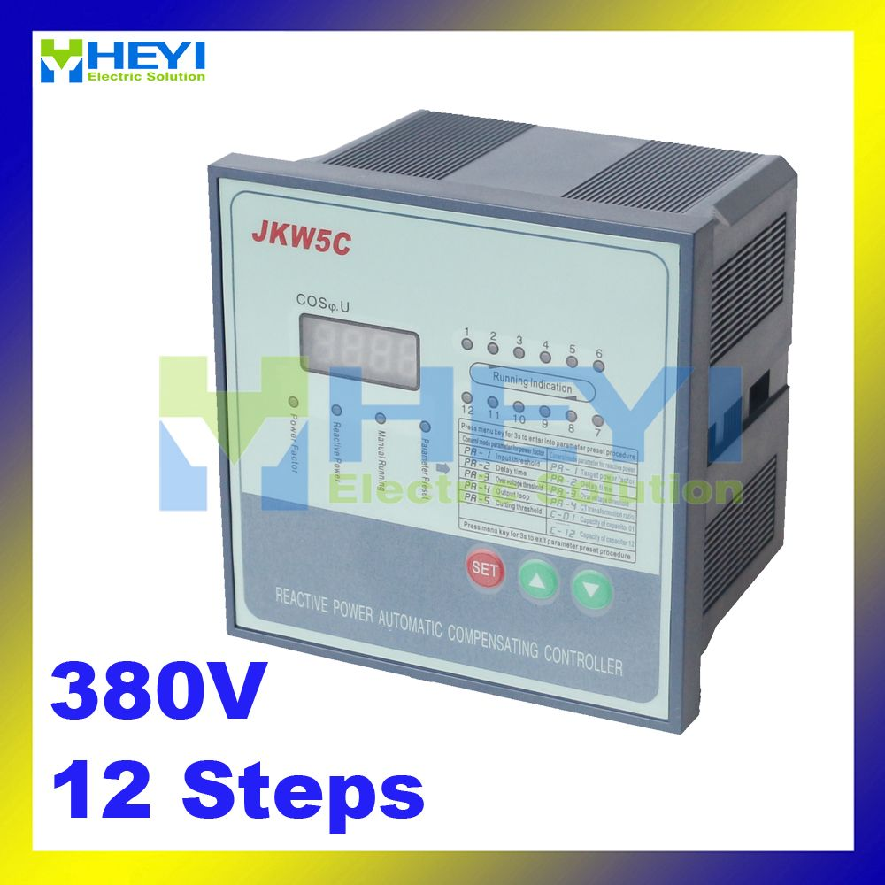 Jkw5c Power Factor Regulator Compensation Controller For Power Factor Capacitor 12steps 380v Capacitor Cool Things To Buy Power
