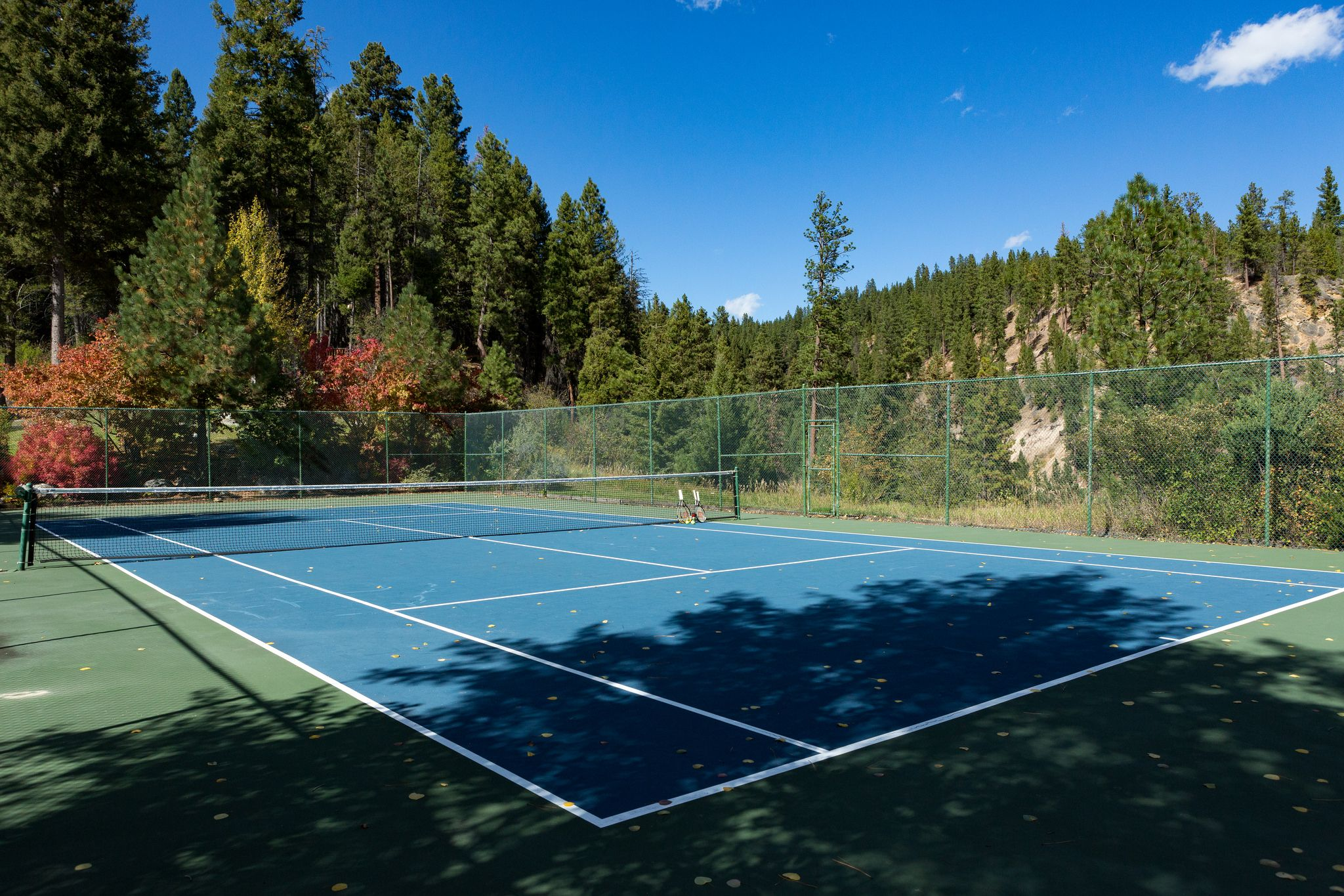 Tennis with a view at Triple Creek Ranch.
