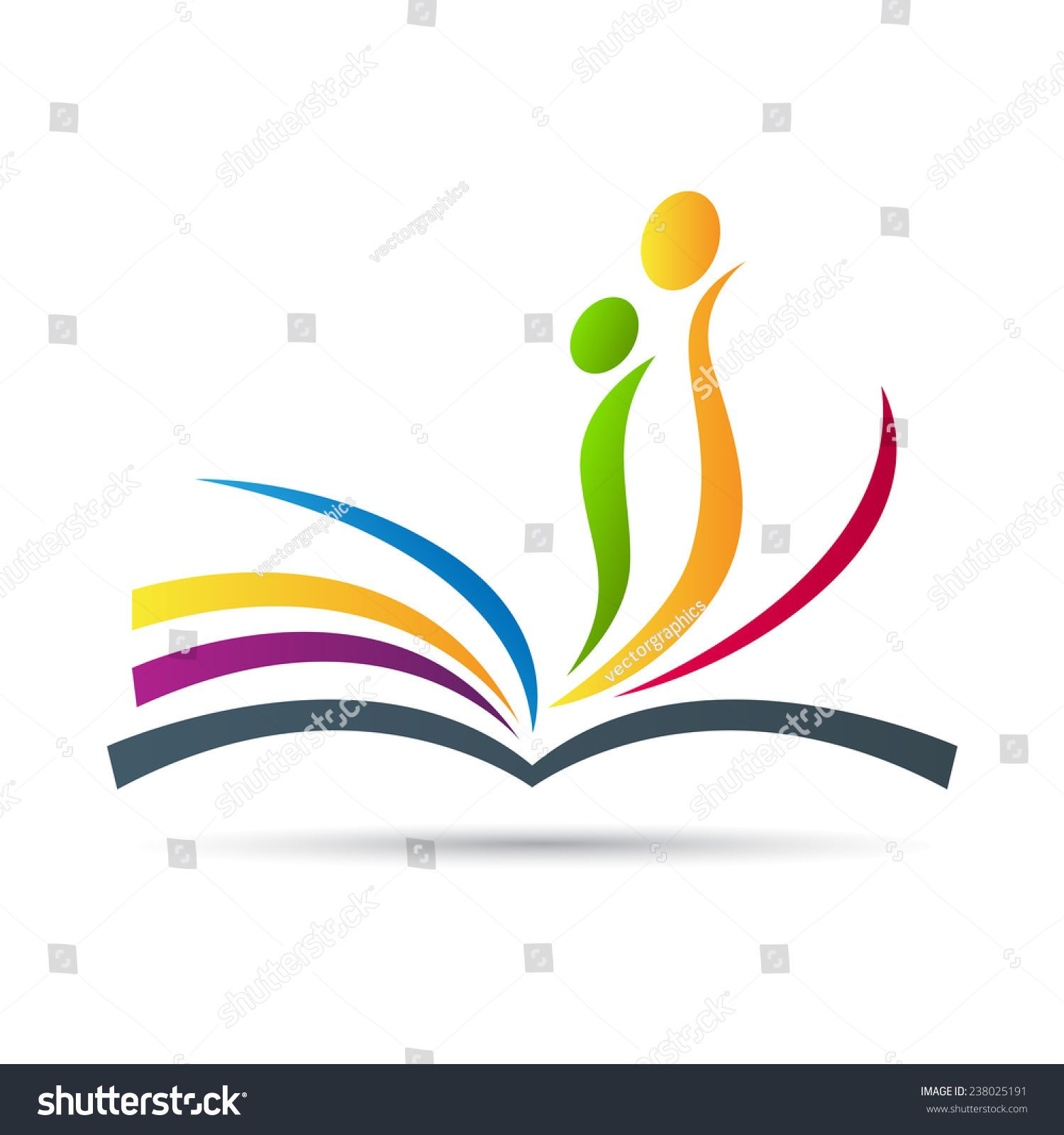 Abstract Book Vector Design Represents Publishing Work Education