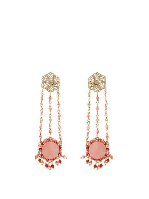 Rosantica Corte drop earrings 18cuL