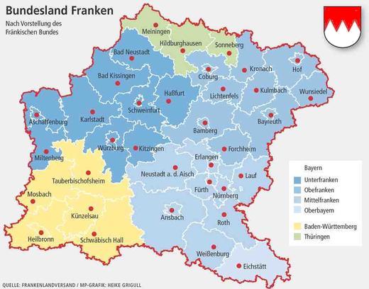 landkarte franken deutschland Bundesland Franken | Landkarte, Bayern, Mittelfranken
