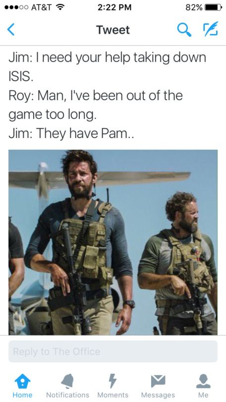 Jim and Roy save Pam,   coming to a theater near you