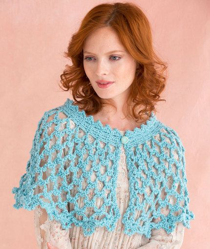 Picot Lace Shawlette Free Crochet Pattern In Red Heart