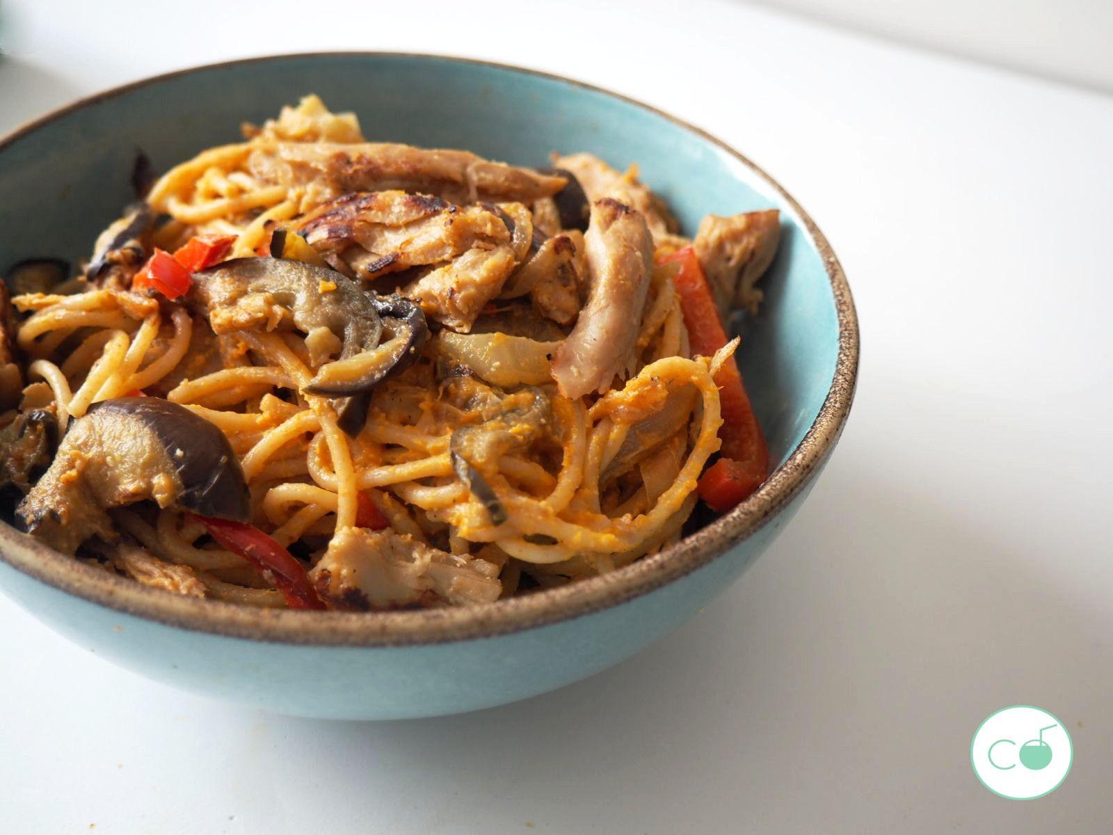 espaguetis-veganos-heura-receta