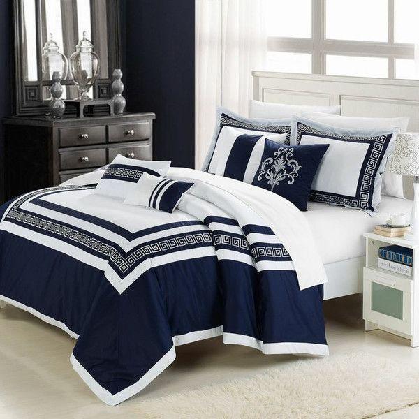 Found It At Joss Main 7 Piece Venice Comforter Set Look S Like We Have A Winner Comforter Sets Bedroom Design Blue Bedroom Navy and white comforter set queen