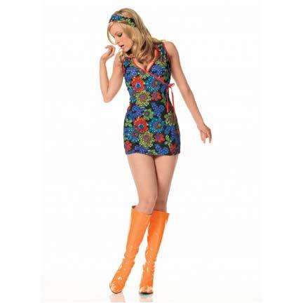 Gogo Cage Kaleidoscope Print Dress Costume Hippie Costumes 60s Dancer
