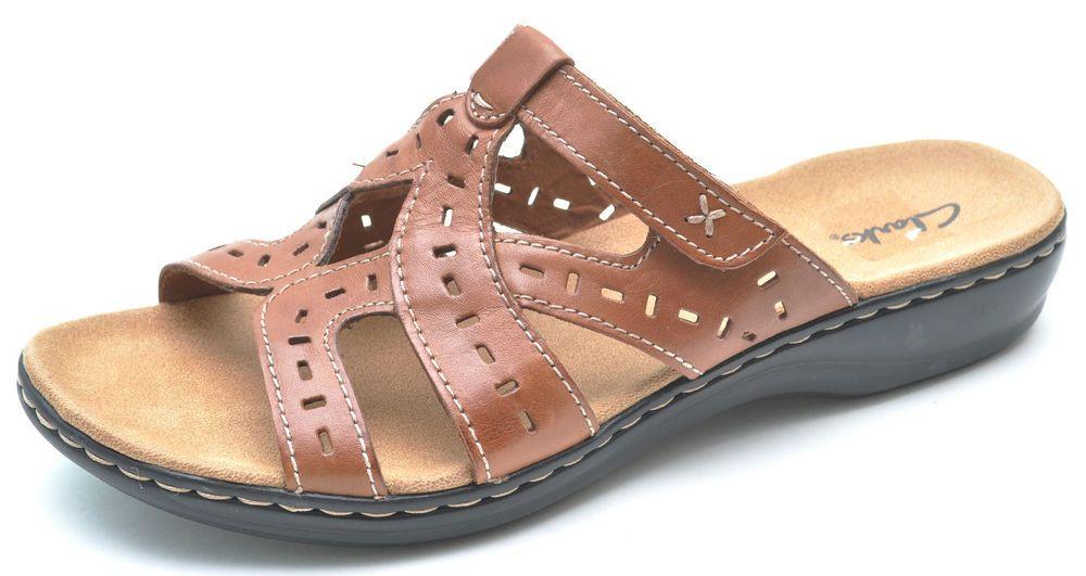 ce39b0f33382 Clarks LEISA TRUFFLE Tan Brown Slides Sandals Slip-Ons Women s 11 - NEW -  65712