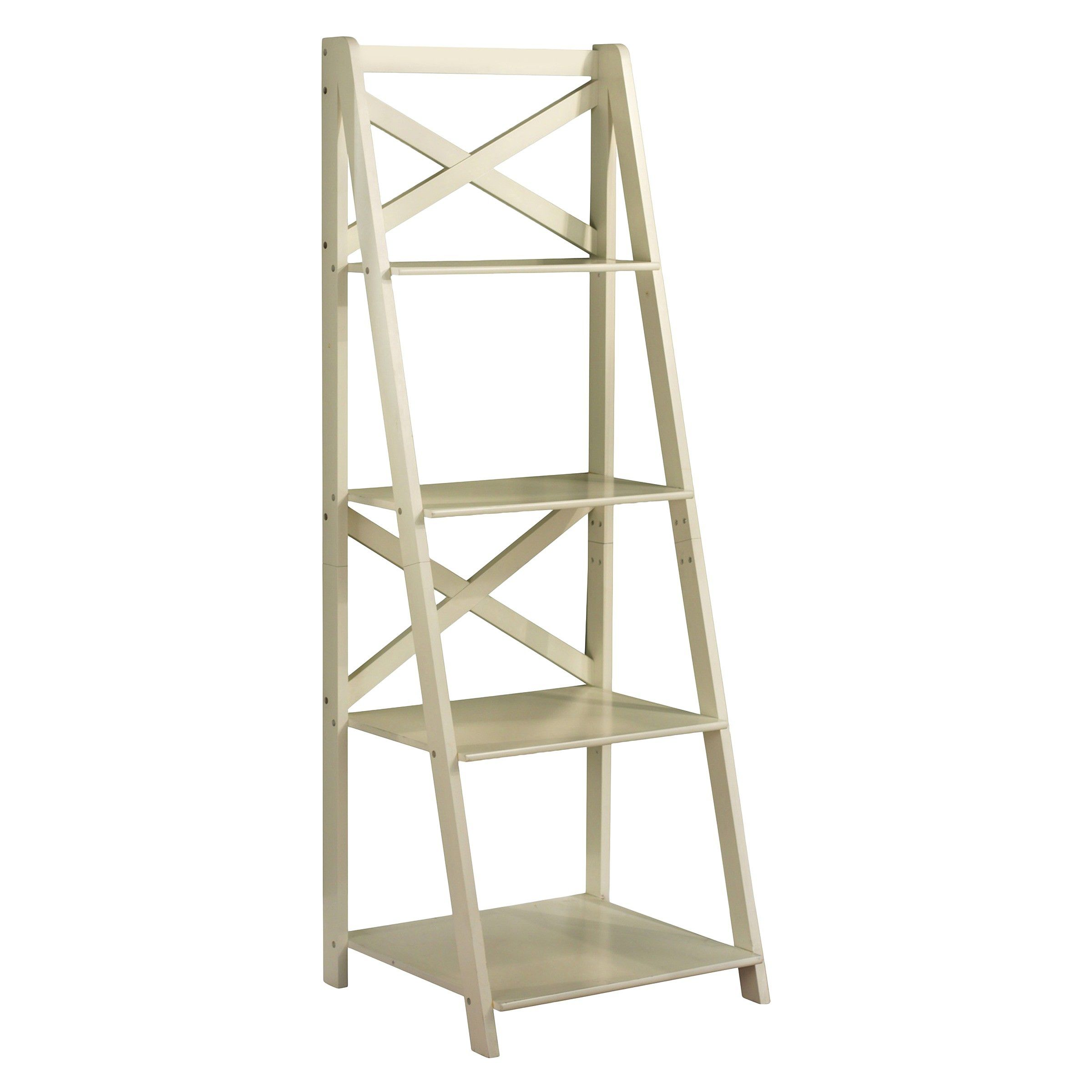 4 Tier Shelf Target Ladder Bookcase Ladder Bookshelf Bookcase