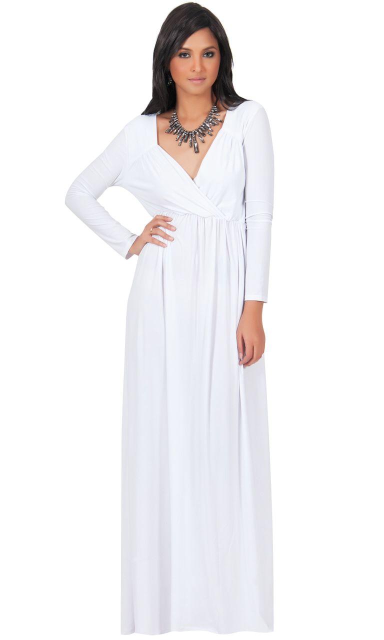 Koh koh long sleeve formal evening maxi dress gmd evening