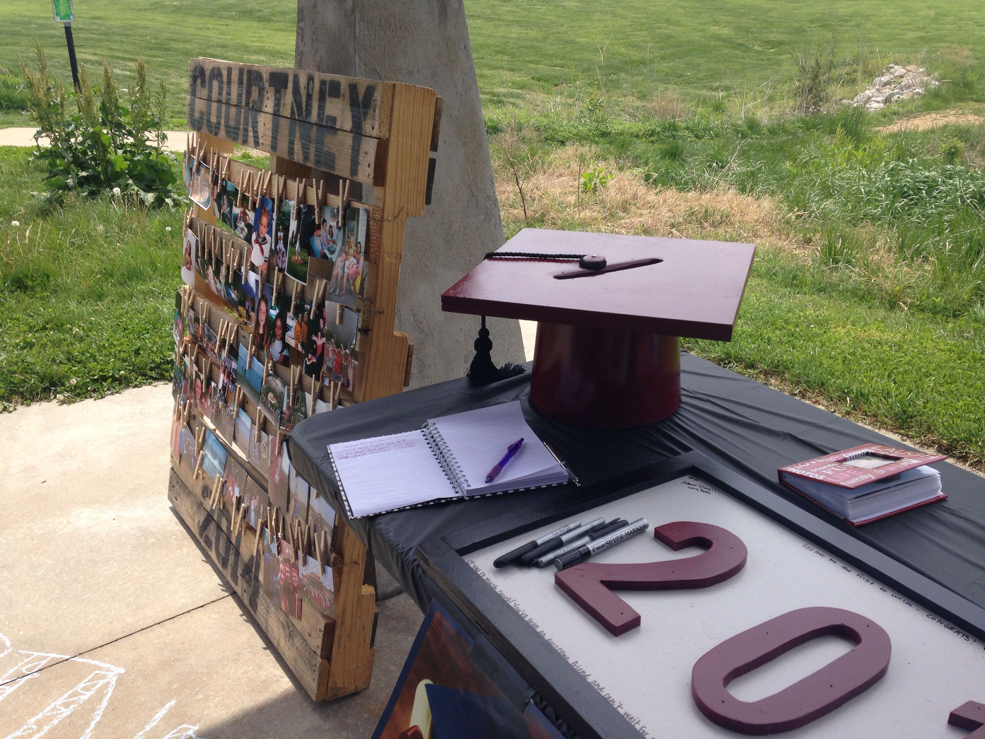 Graduation card box from paint can and piece of wood ...