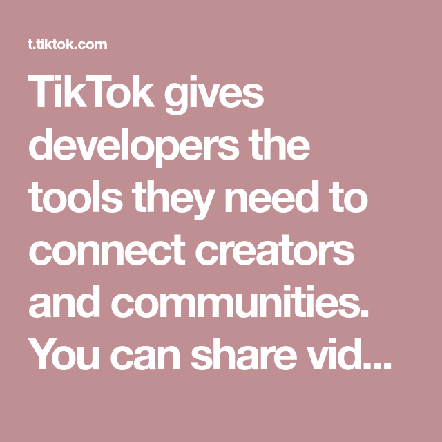 Tiktok Gives Developers The Tools They Need To Connect Creators And Communities You Can Share Vid Polaroid Picture Frame The Creator Fitness Workout For Women