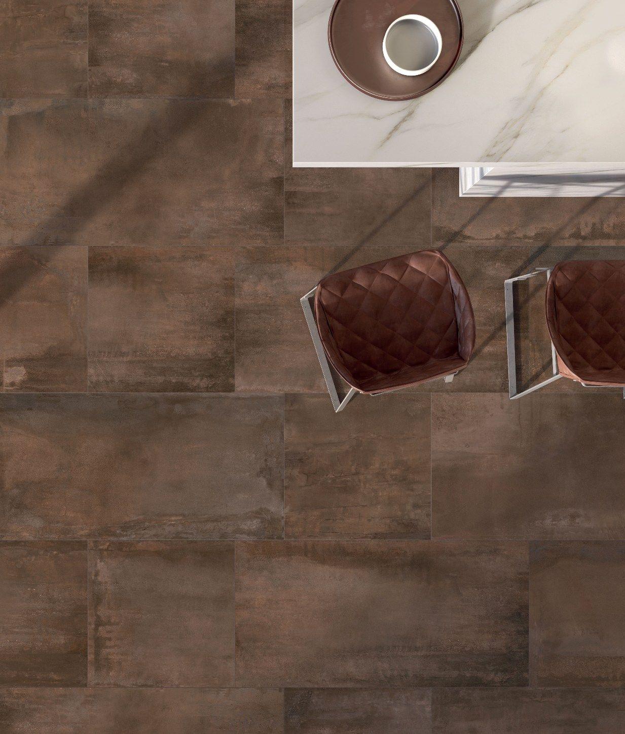 Pavimento realizzato con interno 9 abkemozioni colore rust pavimento realizzato con interno 9 abkemozioni colore rust abbinando i formati 60x120 e ceramic tile dailygadgetfo Gallery