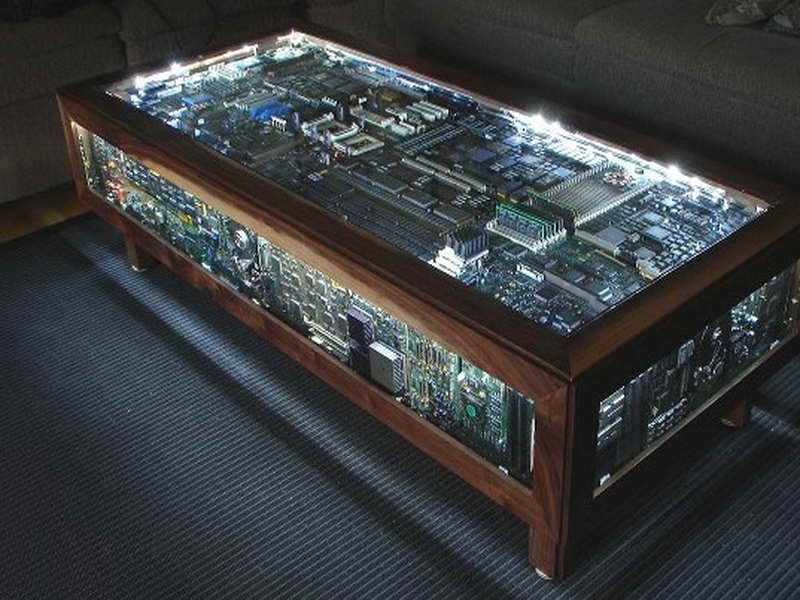 This Circuit Board Coffee Table Separates Itself From The Put It Under Glass Phenomenon
