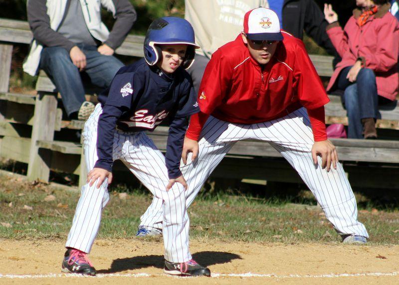 11u Eagles Blue At The South Jersey Baseball League Fall Classic In Manahawkin Nj October 2013 Courtesy Of Rob Monaco Baseball League Baseball Eagles