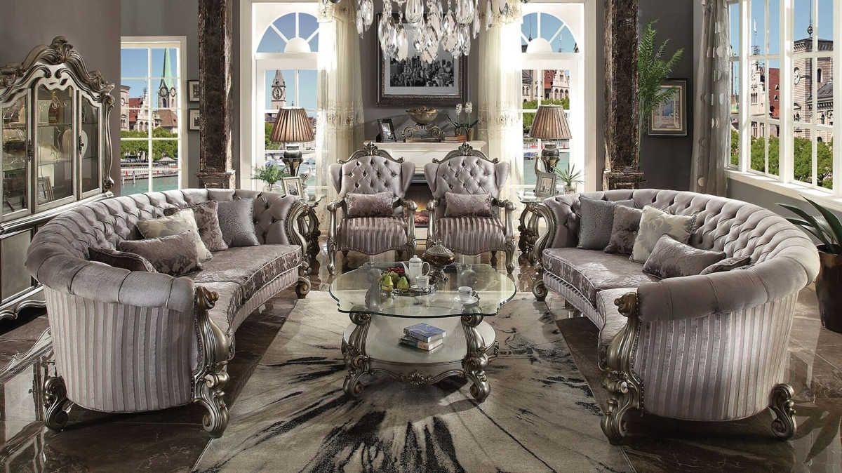 Best Acme Furniture Versailles Antique 4Pc Living Room Set 400 x 300
