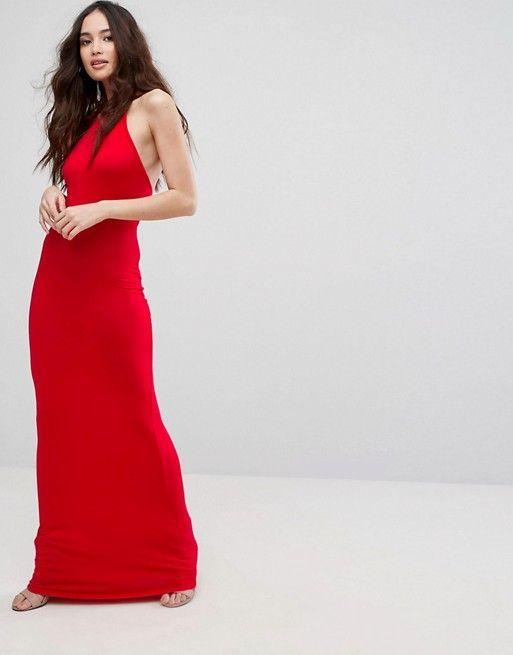 b3d20c3c03d6 Clothes · Boohoo   Boohoo Halterneck Maxi Dress Long Tight Skirt, Hobble  Skirt, Boohoo, Fashion