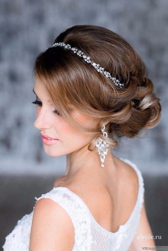 le meilleur la plus récente technologie images détaillées Acconciatura con diadema per spose   Fascia da sposa, Mod ...