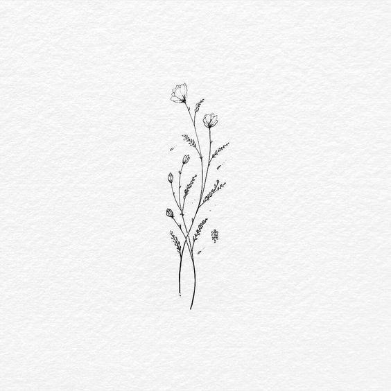 56 süße einfache kleine Tattoos mit Bedeutung   #flowertattoo #flowerdresses