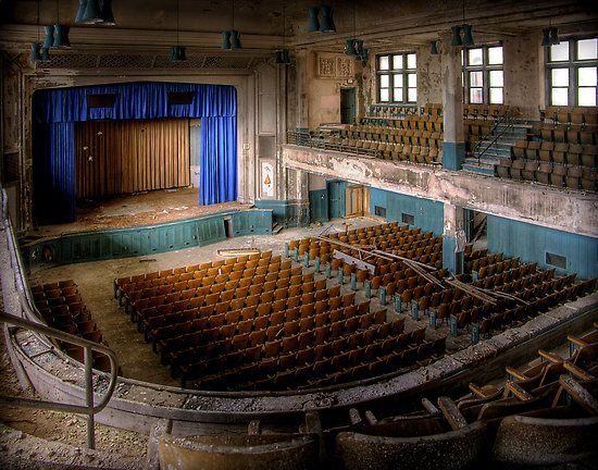 Abandoned American movie theater
