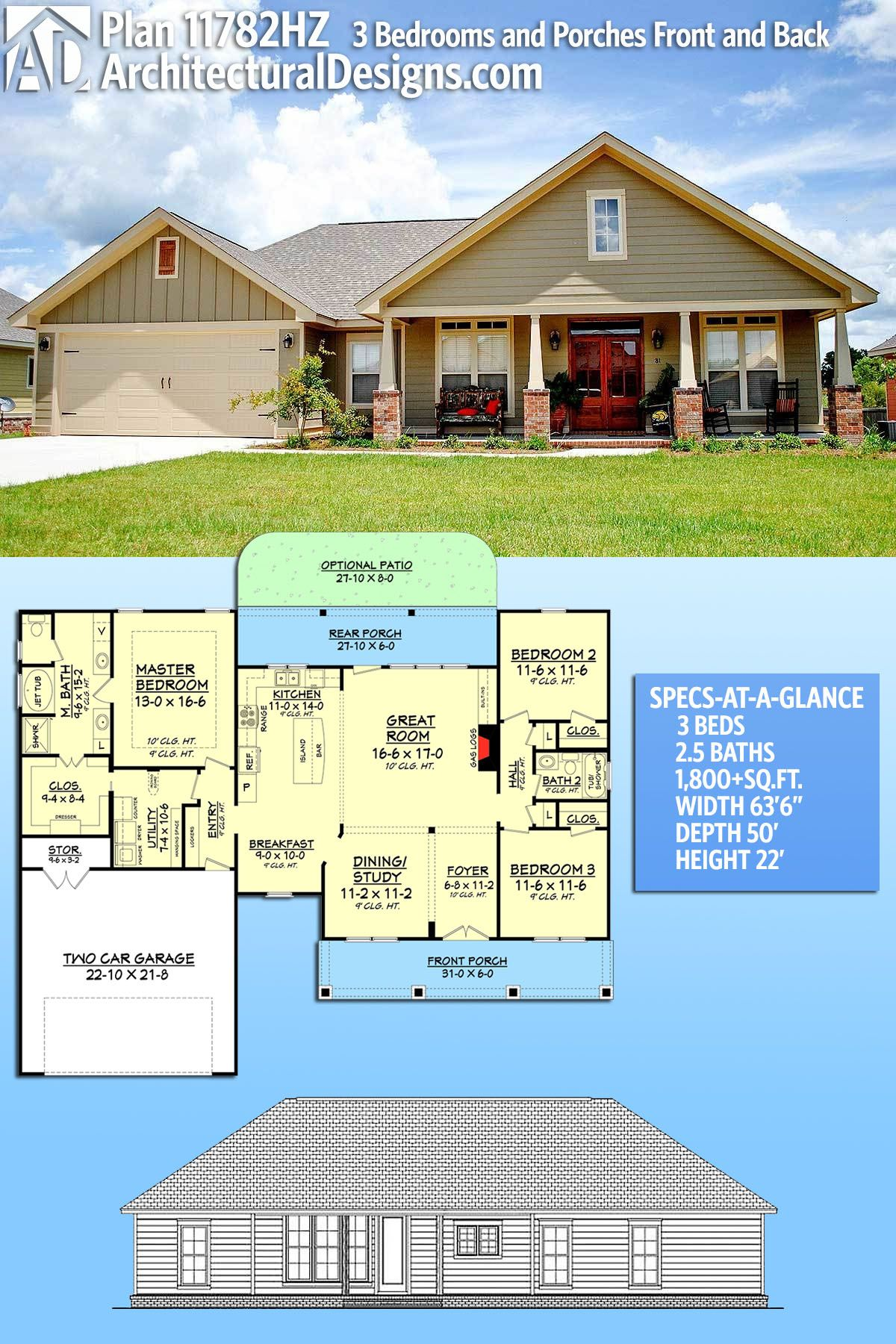 Architectural Designs House Plan 11782HZ comes to