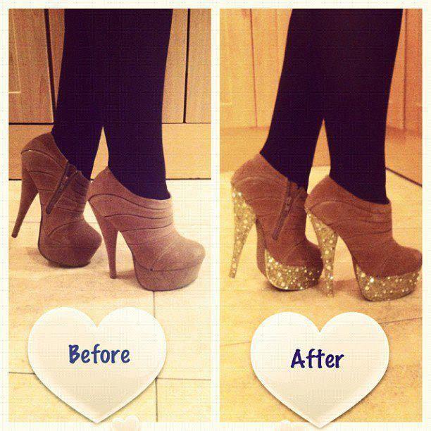 Deco-Heels! #diy   Diy heels, Shoe makeover, Diy heels