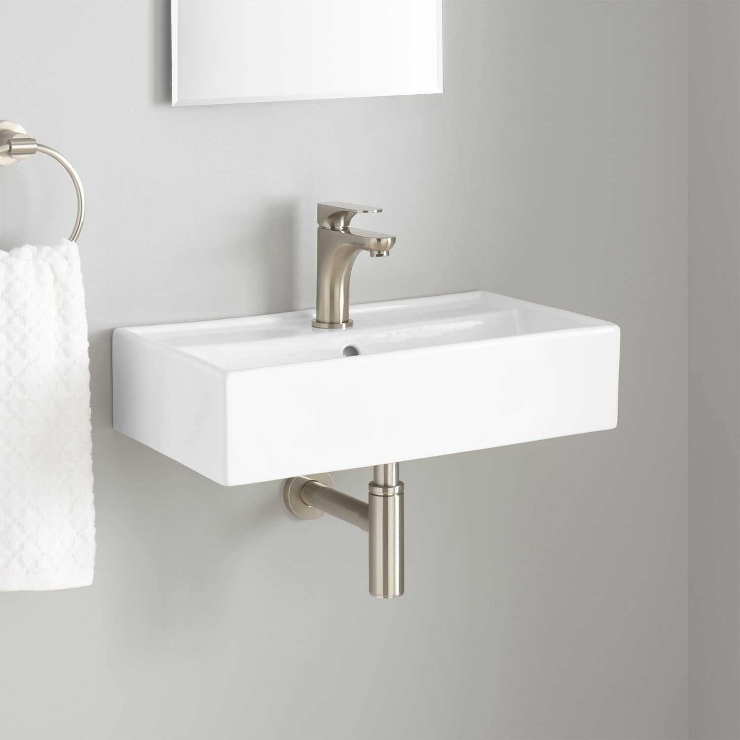 Small wall mounted bathroom sinks - Magali Wall Mount Bathroom Sink