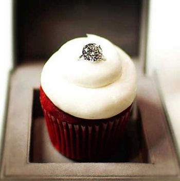 If you give me a diamond like this on a red velvet cupcake...