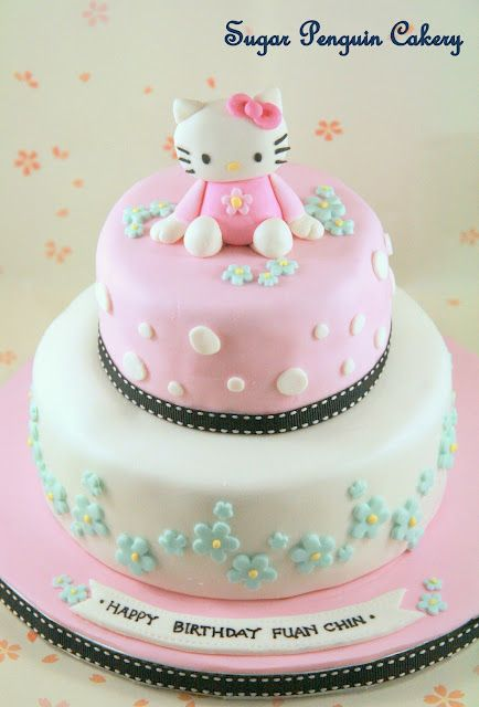 amazing hello kitty cake by Sugar Penguin cakery in Vancouver BC