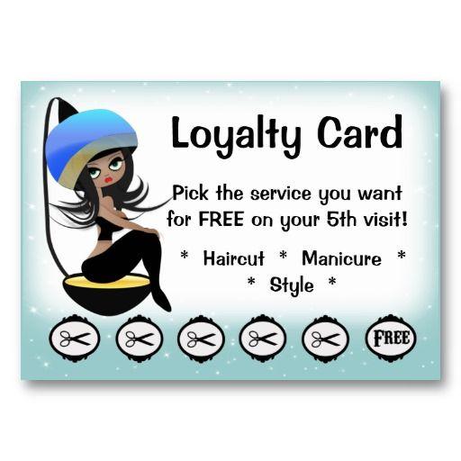 Beauty Salon Loyalty Hairstylist Punch Cards Salon Marketing Beauty Salon Decor Salon Business Cards