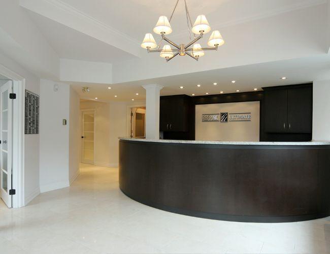 estate office reception area toronto design by bedfordbrooks design