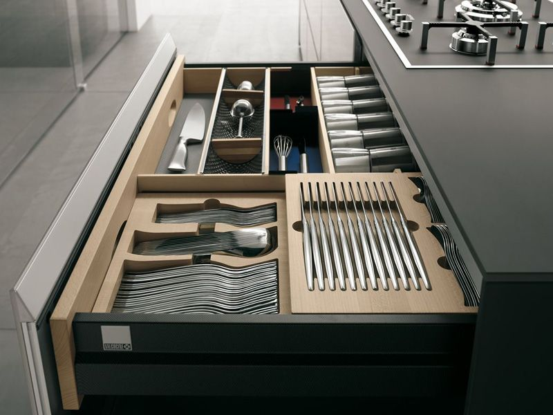 Cocina integral de vidrio ARTEMATICA VITRUM by VALCUCINE diseño ...