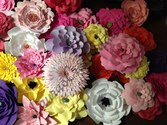 23 Layered Paper Flowers Template Svg Paper Flowers Cut Files Svg