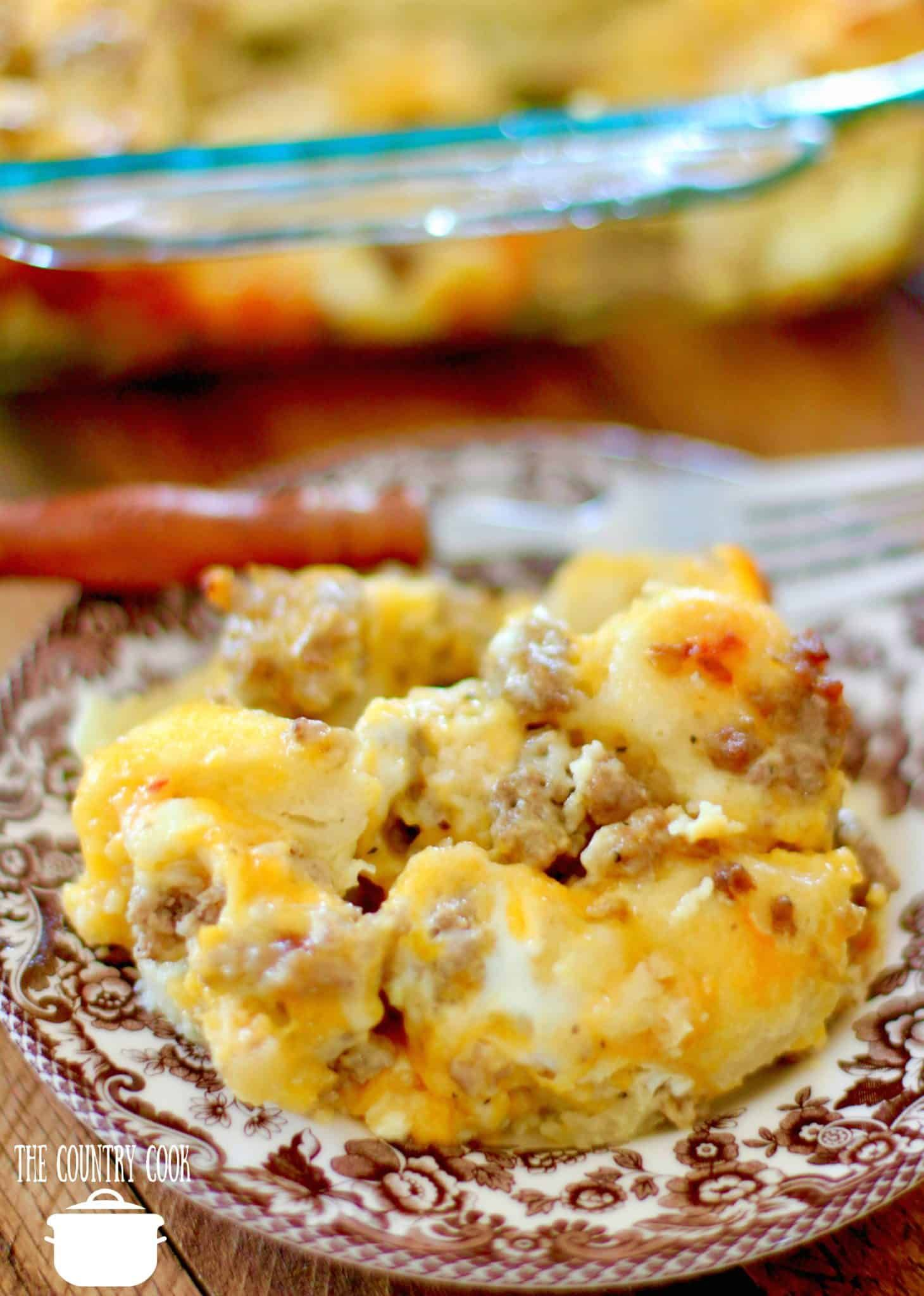 Sausage Egg Cheese Biscuit Casserole