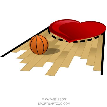Heart Basketball Floor Sportsartzoo Basketball Floor Basketball Sports Art