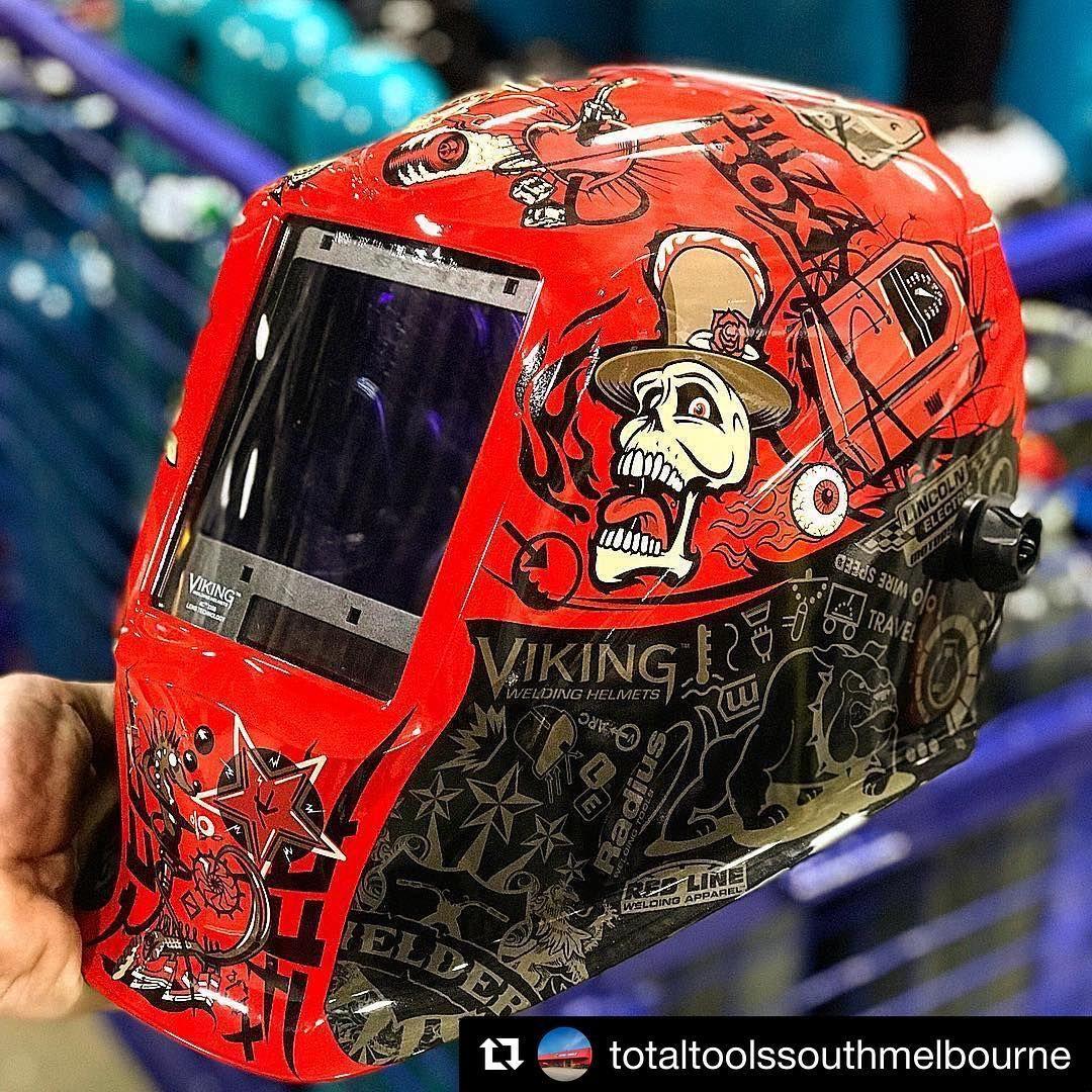 Repost Totaltoolssouthmelbourne Lincoln Electric Auto Darkening Viking Mojo Helmets Are Super Cool Lincoln Welding Helmets Welding Helmet Mini Trucks
