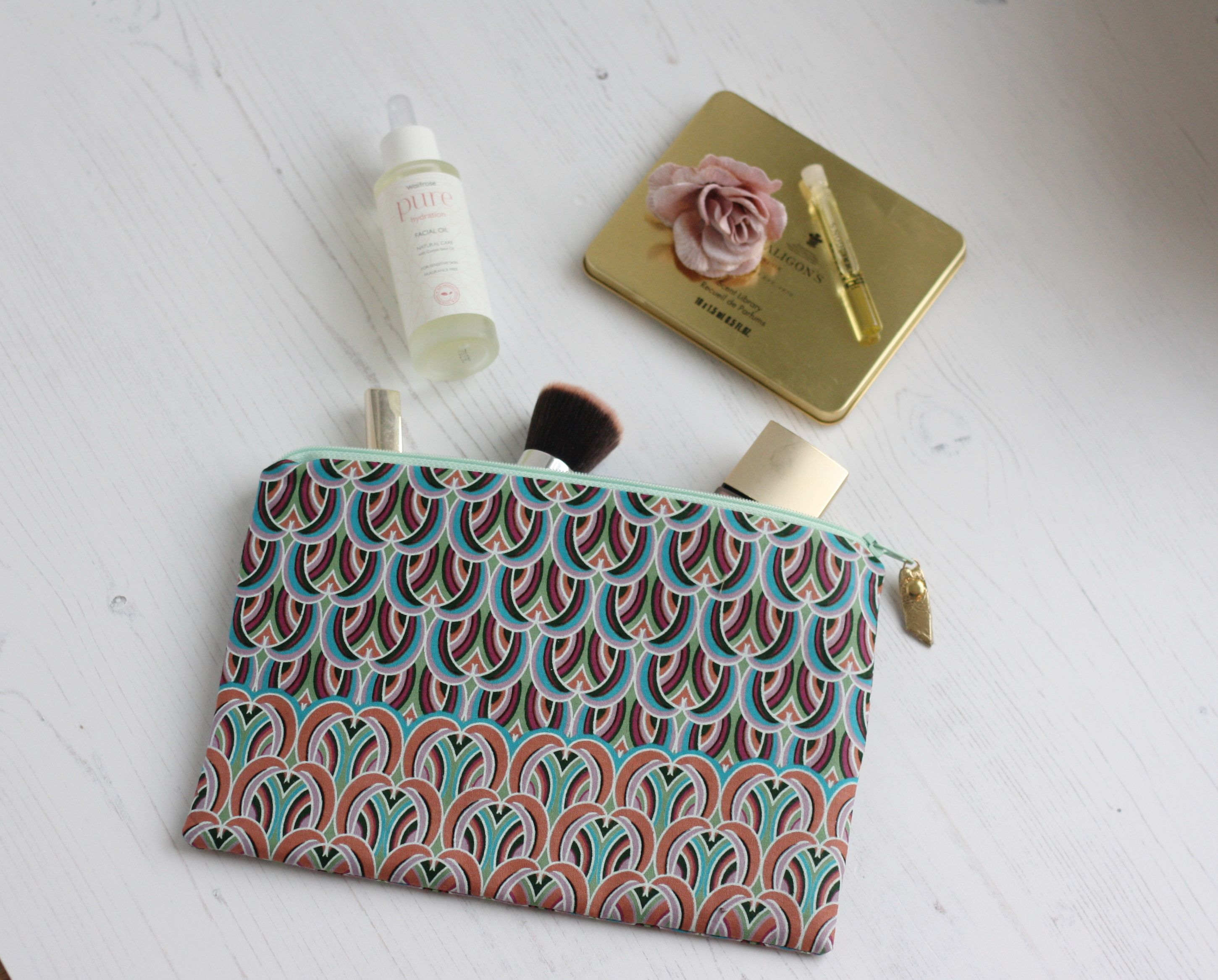 Ankara fabric makeup bag Birthday gift for her African