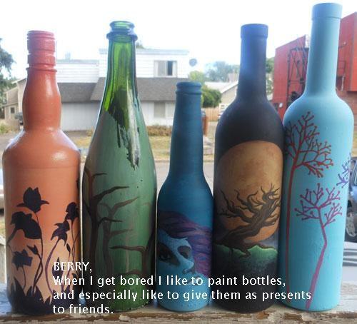 Die Besten 20 Holzlatten Ideen Auf Pinterest: Die Besten 25+ Weinflaschen Bemalen Ideen Auf Pinterest