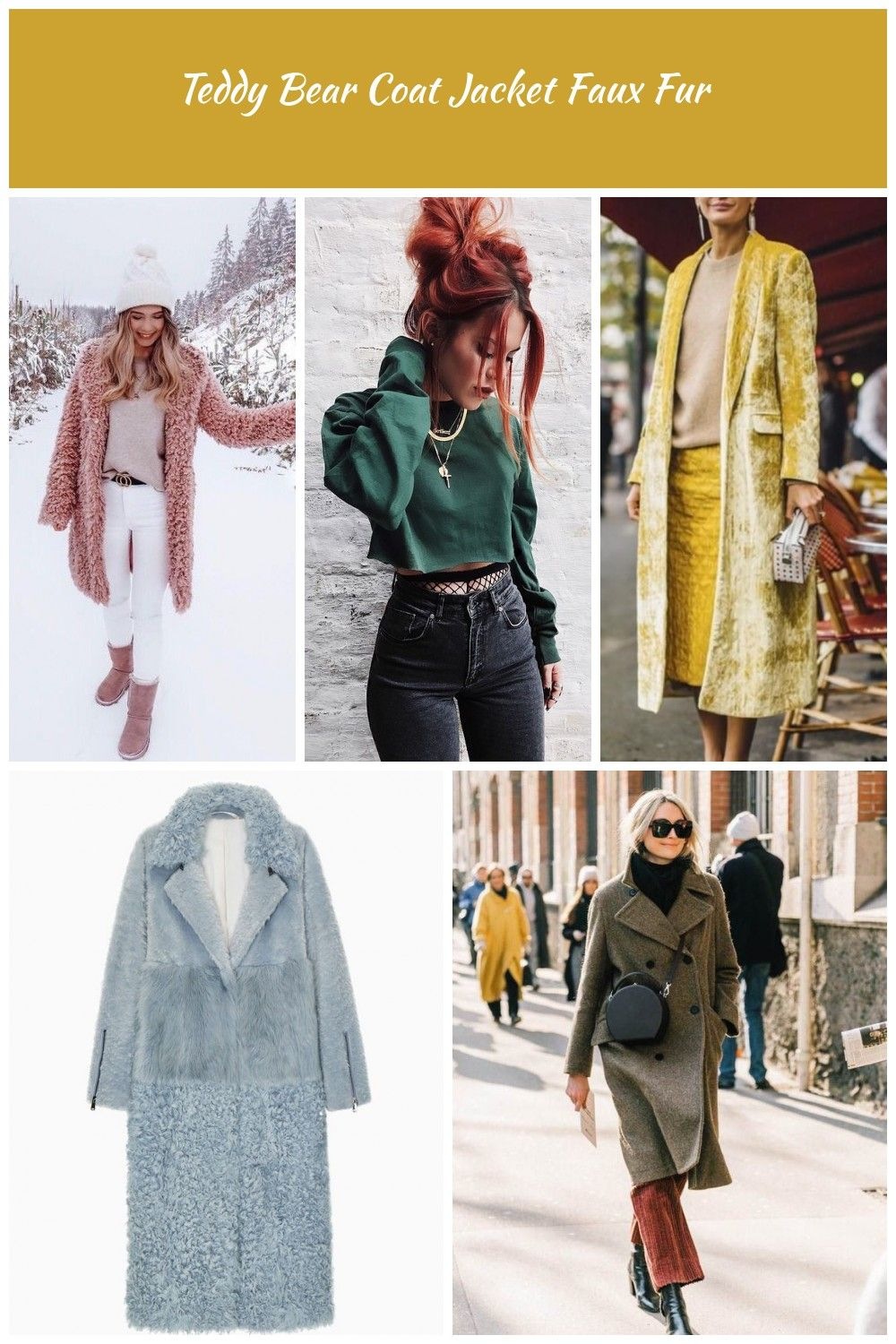 Gray sweater  white tight pants  ankle boots  pink teddy coat Fashion classy casual warm comfy long coat women fall winter winter fashion Teddy Bear Coat Jacket Faux Fur