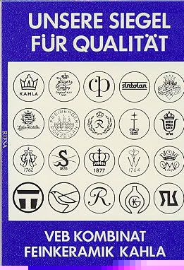 Logos, Porzellanmarken Kahla Porzellan, DDR, GDR Kahla