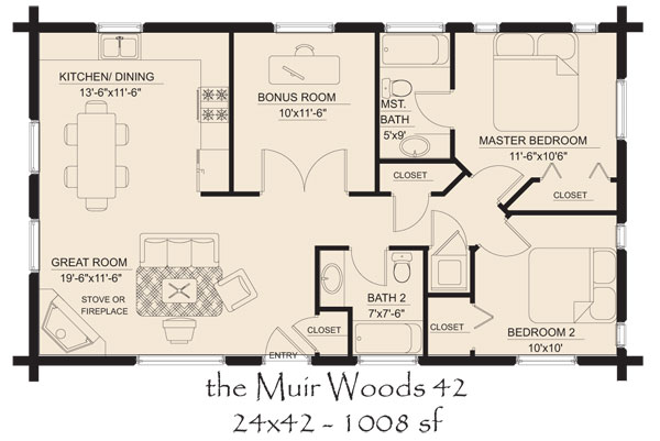 Small Log Cabin Floor Plans Country Cottage Floor Plans House