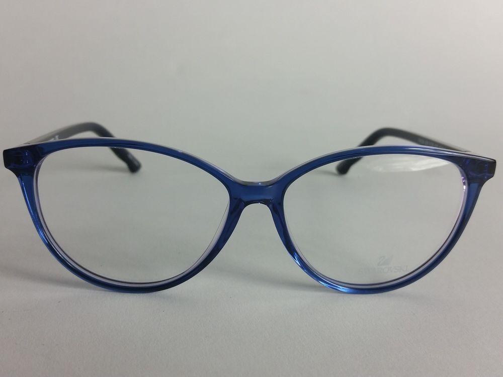 0e754998553 Swarovski Frida SW 5136 092 Eyeglasses Frames - Blue - 53 13 140  Swarovski