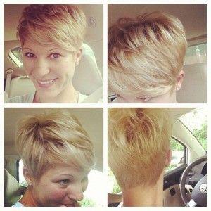 Vorne viele kurze haare
