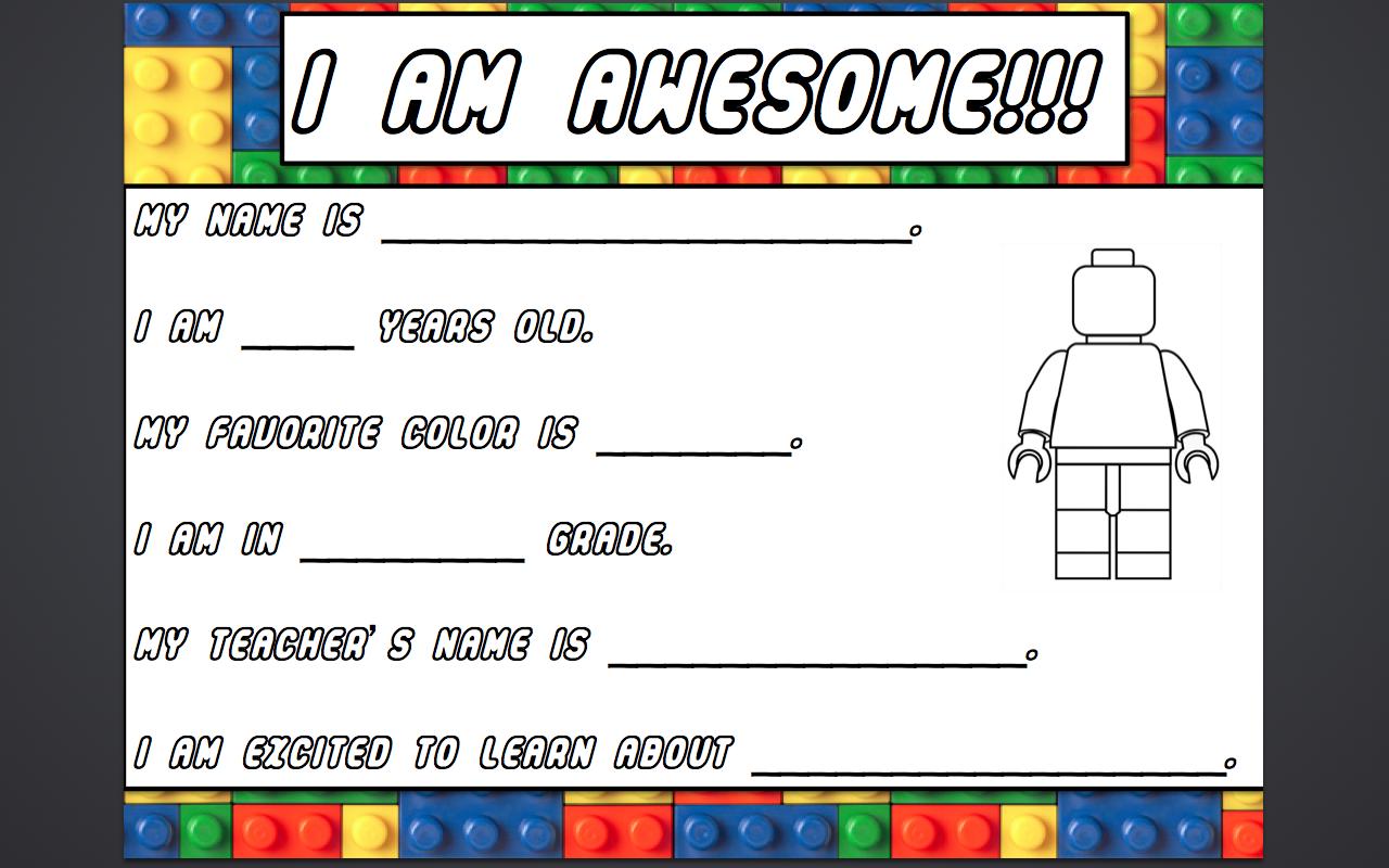 Lego Teacher How Awesome